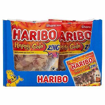 HARIBO Happy Cola Zing 1.7kg, bulk sweets, 12 packs of 160g