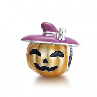 Sterling Silver Charm Halloween Pumpkin - 6688