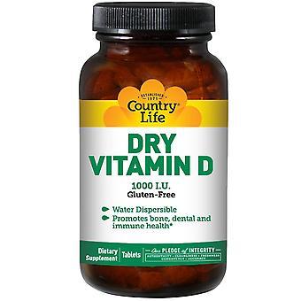 Country Life, Vitamine D sèche, 1000 UI, 100 comprimés