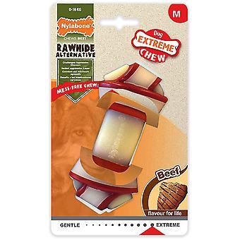 Nylabone Rawhide Alternatieve Knot Bone Beef - Medium