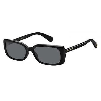 Sunglasses Women's Rectangular Black Logo