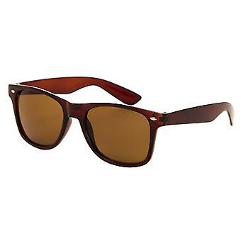 Solbriller Unisex brun med brun linse (050 P)