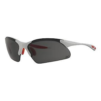 Sunglasses Unisex sport glasses white/red with UV protective coating Polrx7035