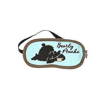 Lazy One Bearly Awake SM935 Blue Sleep Unisex Eye Mask