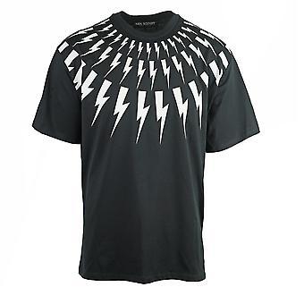 Neil Barrett Lightning Bolt Easy Fit Oversize schwarz t-Shirt