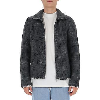 Maison Margiela S30gp0322s17443860f Men's Grey Wool Sweater
