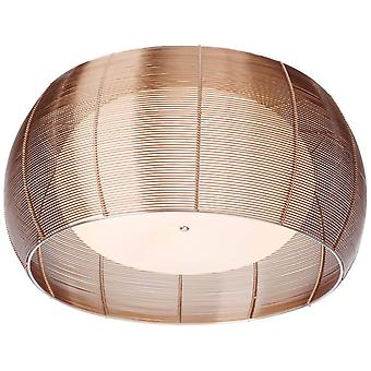 BRILLIANT Lamp Relax Plafondlamp 50cm brons/chroom | 2x A60, E27, 30W, g.v. normale lampen n. ent. | Voor LED-lampen