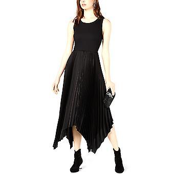 Bar III   Ribbed & Satin Pleated Dress