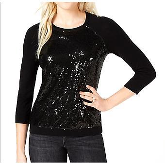 Maison Jules | Sequin-Embellished Baseball Sweater