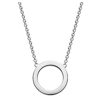 Dew Sterling Silver Open Circle 18 Necklace 9695HP021