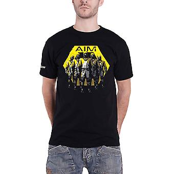 Marvel T Shirt Avengers Game AIM Logo uusi virallinen Mens Black