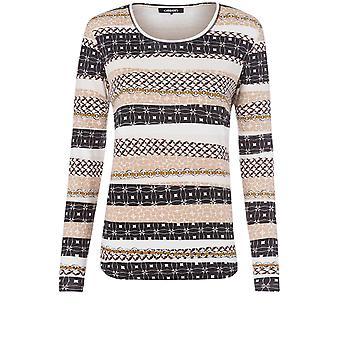 Olsen Bold Print Jersey Top
