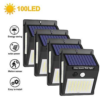 1/2/4pcs 140 Led Outdoor Solar Light -pir Motion Sensor Wall Light Waterproof