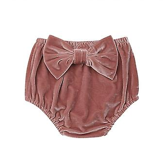 Baby Clothing Bow Shorts Cover Bloomer Baby Girls Panties Bloomers- Newborn Pleuche Shorts