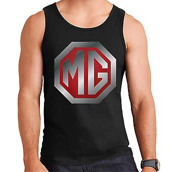 MG Shiny Red en Chrome Logo British Motor Heritage Men's Vest