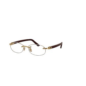 Cartier Syracuse CT0056O 003 Gold-Burgundy Glasses