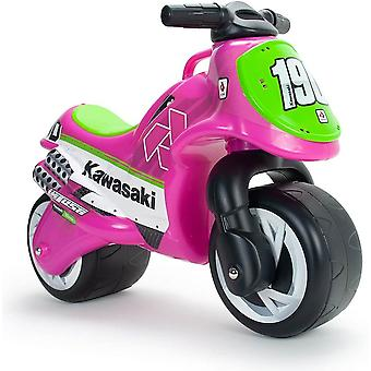 Licensed injusa moto neox kawasaki foot to floor kids motorcycle pink