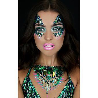 Shrine The Gypsy Shrine - Halloween Face Jewels - Poison Ivy