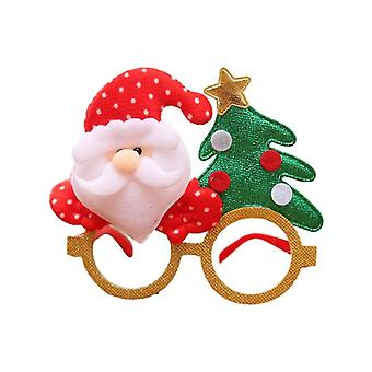 Cute Santa Claus, Snowman, Elk, Bear, Antler Shape Cartoon Glasses For Kid's