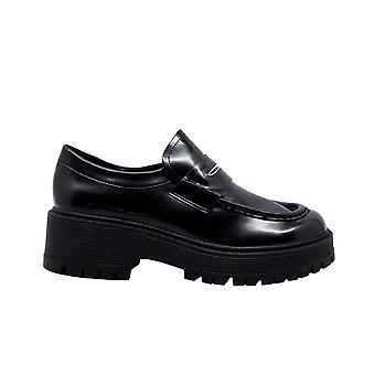 Steve Madden Malvern Frauen's schwarz Kunstleder Loafers