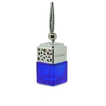 مصمم في سيارة الهواء معطر معطر الزيت ScentInspiBlue بواسطة (كريستيان ديور سوفاج بالنسبة له) العطور. غطاء كروم، زجاجة زرقاء 8 مل