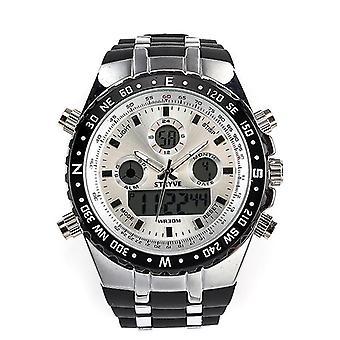 STRYVE S8002 Digital Watch-sluturskalender för digital klocka för dubbel skärm