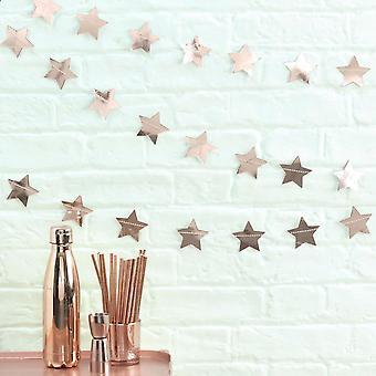 Christmas Rose Gold Star Garland Xmas Decoration 5m Home Party Décor Wedding