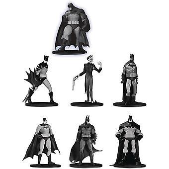 Batman Black & White Mini Pvc Figure 7 Pack Set 3 USA import