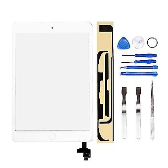 Ll trader for ipad mini 1&2 white touch screen digitizer front panel glass lens repair replacement (