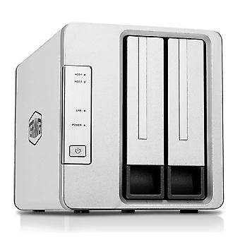 Terramaster f2-210 2-bay nas quad core raid enclosure media server personal cloud storage (diskless)