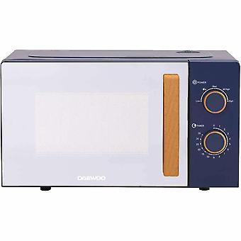 Daewoo Blue Skandia Wooden Handled Microwave
