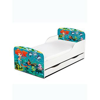 PriceRightHome Mermaid Toddler Bed With Underbed Storage plus Fibre
