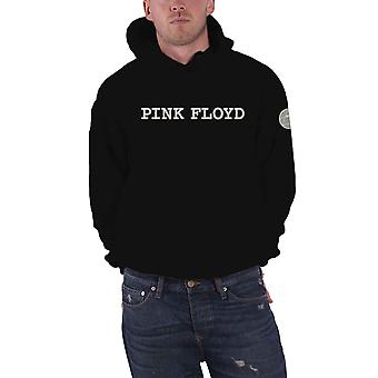 Pink Floyd Hoodie Band Logo Applique Prism Official Mens Black Pullover Black