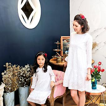 Mommy & Me Snow Embroidered Dress