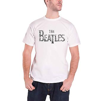 Beatles Mens T skjorte hvit slippe T konsertbilletter bandets logo offisielle