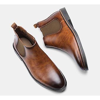 Módní pohodlné kožené boty Chelsea