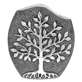 Tree of Life Modern Vase Gunmetal