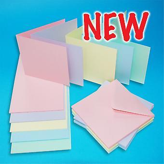 Craft UK Cards & Envelopes Assorted Pastel 6x6 Inch
