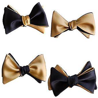 Black & Gold-reversible Butterfly Bow Tie