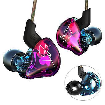Yinyoo hifi headset kz zst colorful hybrid banlance armature with dynamic in-ear earphone stereo hea