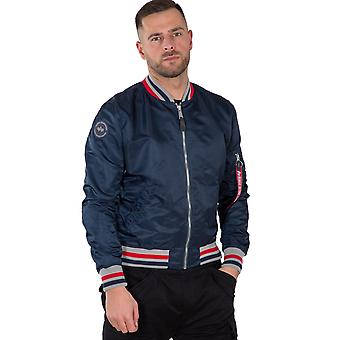 Alpha Industries Men's Bomber Jacket MA-1 LW Tipped