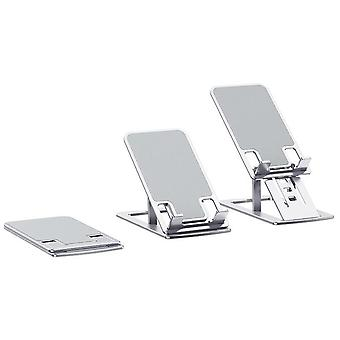 Bakeey aluminum alloy phone/tablet stand foldable height adjustable desktop stand for iphone 12 for samsung galaxy s21 tablet phones within 12 inches