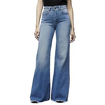 Faux Jeans Kalhoty, Dámské Tenké Vintage Džínovina, Vysoký pas, Stretch Pocket