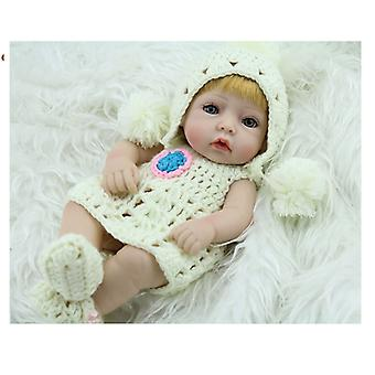 "11"" Handmade Vinyl Silicone Realistic Baby Girl Doll"