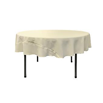 Mantel Poplin de poliéster de lino de 72 pulgadas redondo, marfil