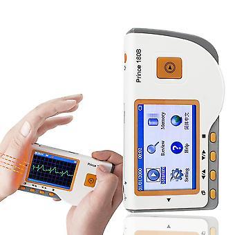 الأمير 180b المحمولة ecg ekg المحمولة شاشة كهربية القلب lcd للاستخدام السفر إلى المنزل