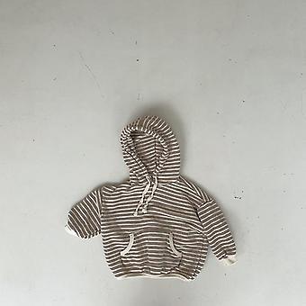 Çocuklar Gündelik Sweatshirt çizgili baskı