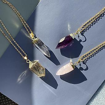 Glow Necklace - Crystal Quartz / Rose Quartz / Amethyst
