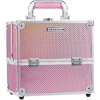 Kosmetikkoffer Kosmetik-Make-up-Koffer Schminkkoffer Schmuckkoffer Veranstalter, 25x18x23,5cm, Pink