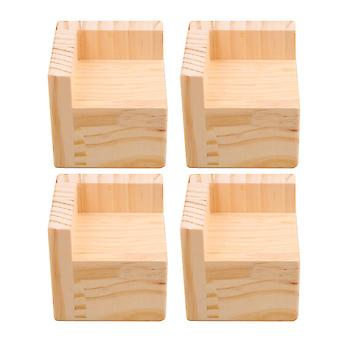 4x muebles para el hogar de madera elevadores de cama